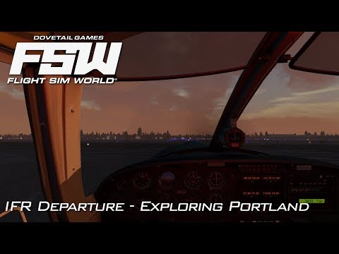 Flight Sim World | IFR Flying out of Portland | Early Access