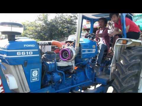 รถไถซิ่งแห่กฐินที่สุโขทัย Tractor ford 6610 Big turbo By. Lek Modify