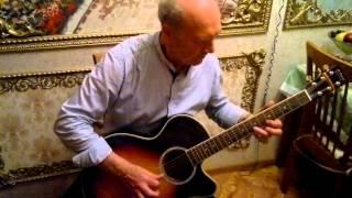 гитарист любитель  играет 7:40