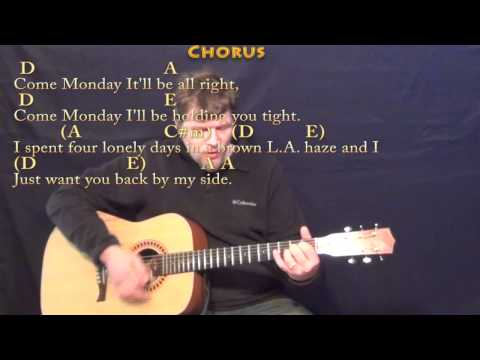 Come Monday (Jimmy Buffett) Strum Guitar Cover Lesson in A with Chords/Lyrics