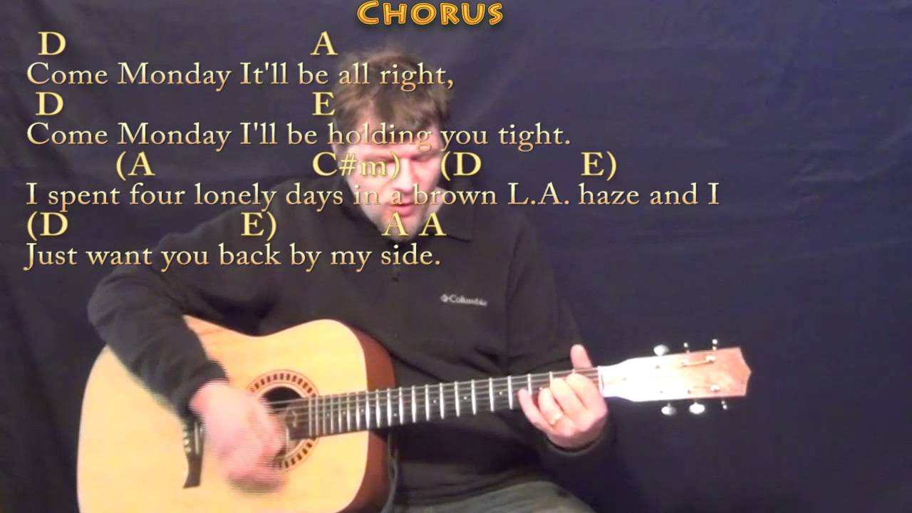 Come Monday Jimmy Buffett Strum Guitar Cover Lesson In A With
