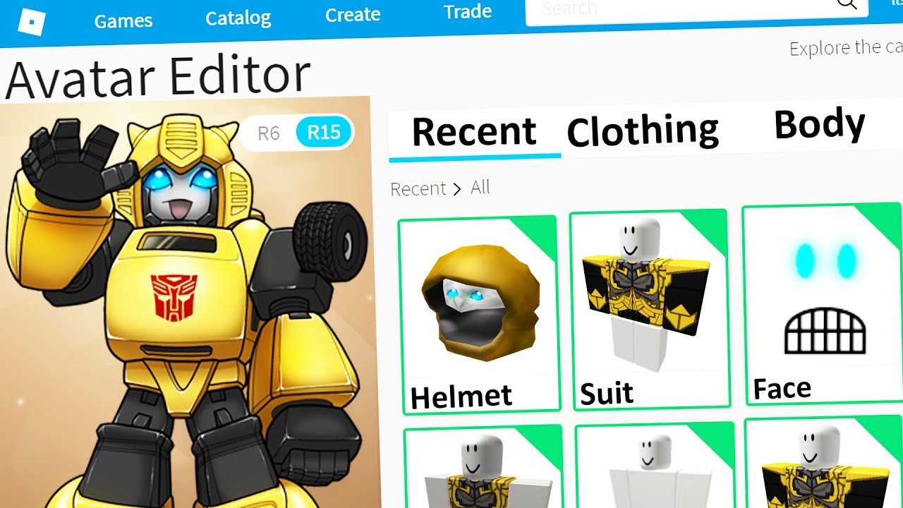 cd3abc131d2 MAKING BUMBLEBEE a ROBLOX ACCOUNT - YouTube