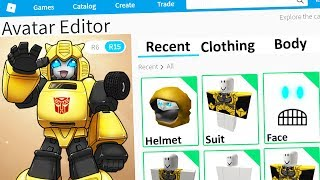 MAKING BUMBLEBEE a ROBLOX ACCOUNT
