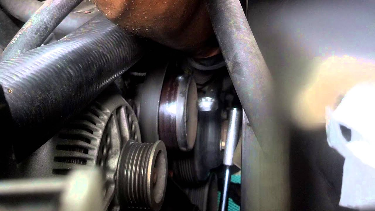 Changing The Serpentine Drive Belt On A Ford F150 Youtube Help Trying To Fit V Without Compressorv6beltdiagramjpg
