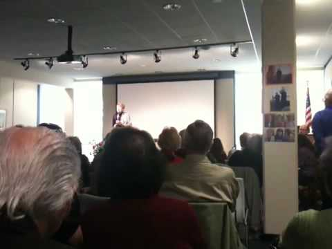 """Jackie Padula singing """"Smile"""" at Eastchester Public Library on 4/18/10"""