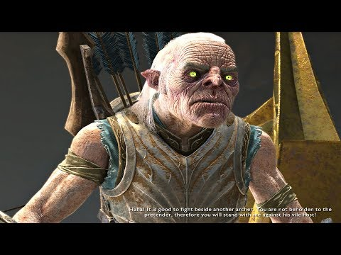Shadow of War  Blade of Galadriel DLC  Meeting Morgoth Best Uruk Sniper Quest & Cutscene