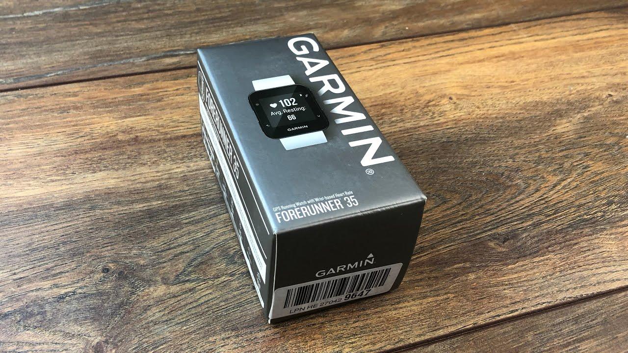 garmin forerunner 35 gps laufuhr test review unboxing der einsteiger fitness uhr youtube. Black Bedroom Furniture Sets. Home Design Ideas