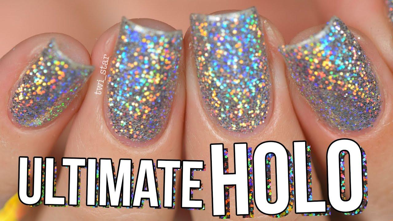 Ultimate Holo Glitter Nails Burnishing Technique No Gel Twi Star You