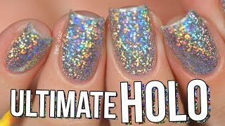 Ultimate HOLO Glitter Nails Burnishing Technique - NO Gel! || TWI_STAR