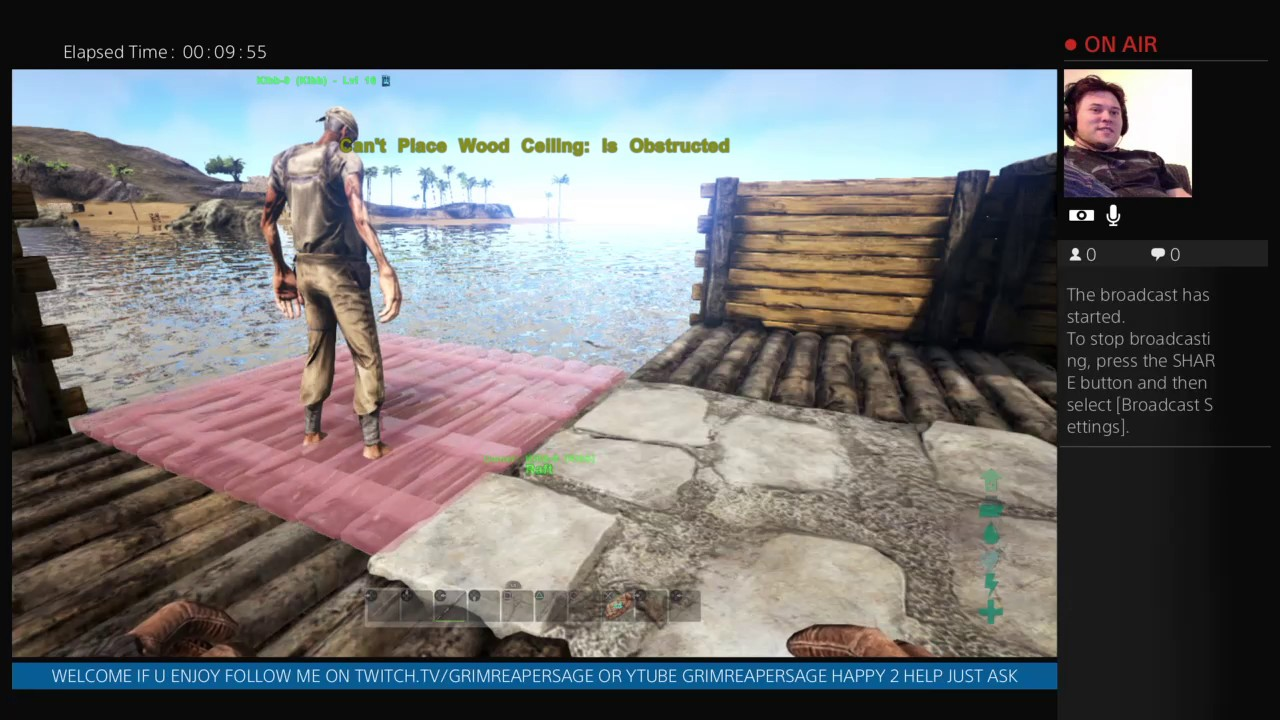PS4 LIVE YouTube RAFT BUILDING AND ADVENTURING