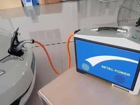 Chademo To Home Station Vehicle V2h Nissan Leaf