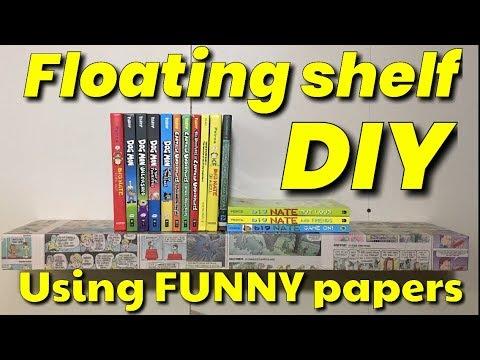 funny paper floating shelf