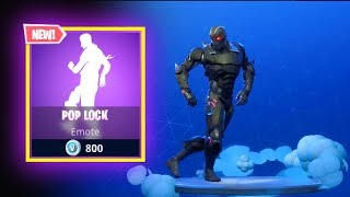 NEW POP LOCK EMOTE DANCE - FORTNITE BATTLE ROYALE - XBOX ONE - PS4 - PC - SWITCH