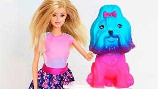 Barbie e Bia PET SHOP COLOR BATH Banho de Cores com BIA LOBO