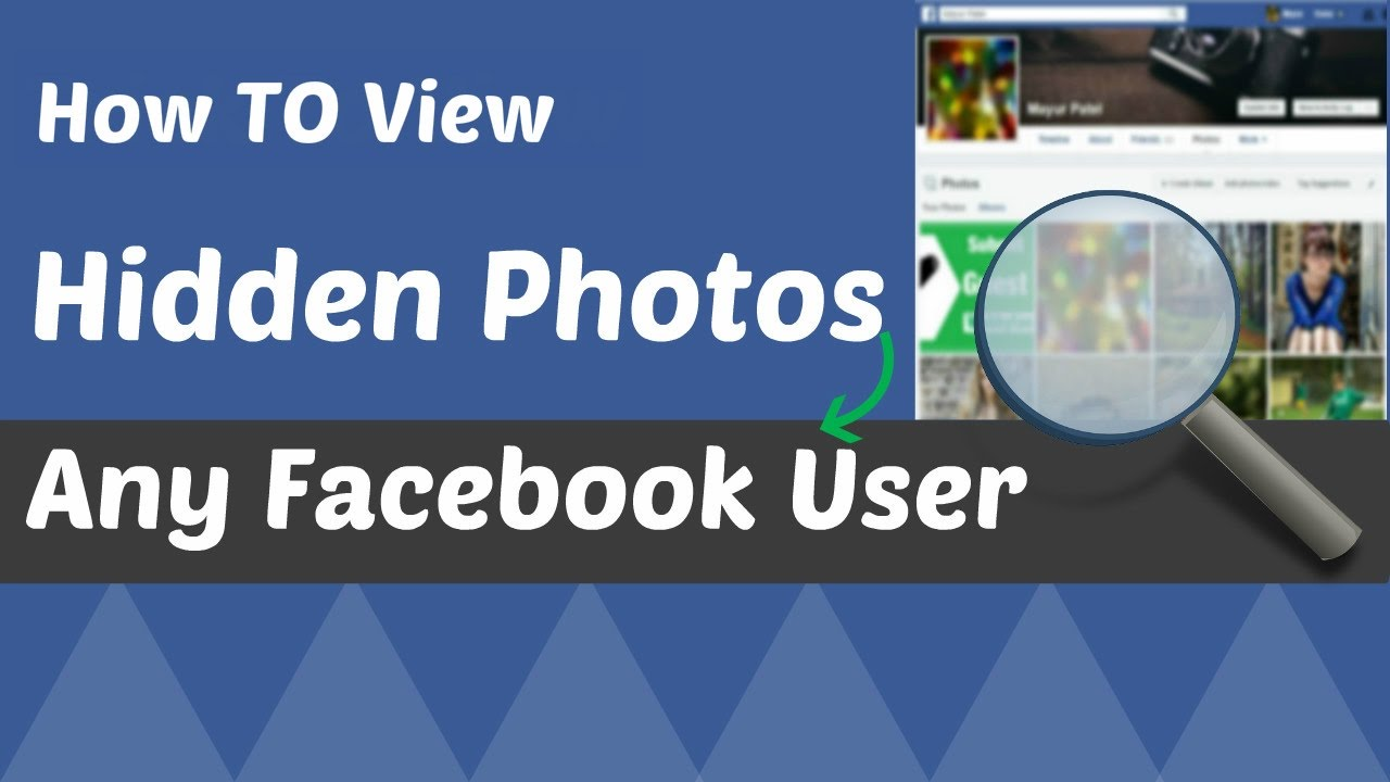 how to view hidden photos in facebook for any facebook user