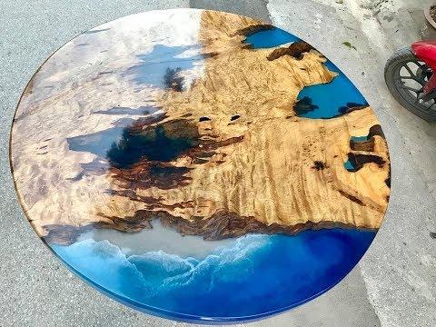 Giá Bán Mặt Bàn Gỗ 3D Epoxy Resin Ở Điện Biên - 0789 000 533