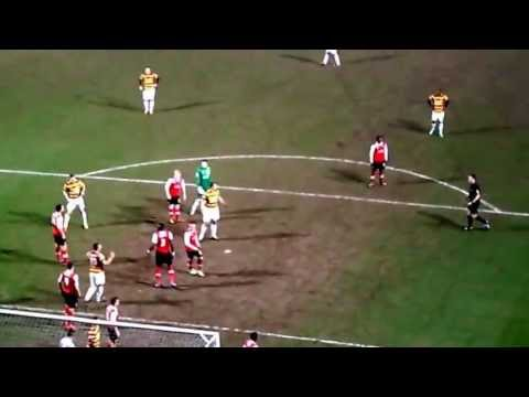 Rotherham's 95th Minute Goal. Bradford City A.F.C. vs Rotherham United F.C. 16_04_13