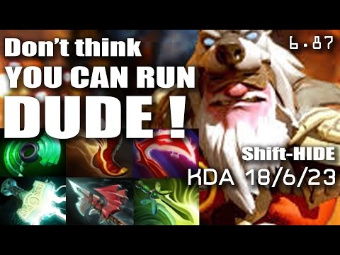 SNIPER! Don't think you can run dude!!!- DOTA 2 - 6.87 - Shift HIDE - [Highlight]