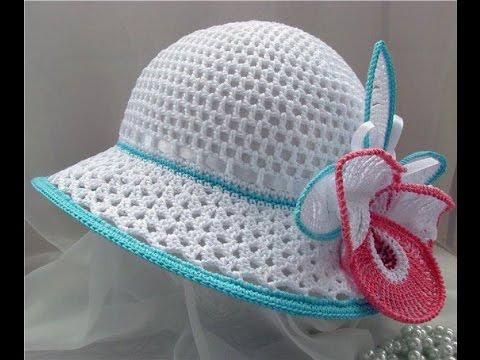 Вязание шляпки крючком  Схема Women's crochet hat