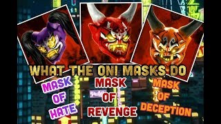 Ninjago Season 8 - What the Oni Masks do!
