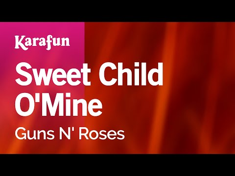 Karaoke Sweet Child OMine  Guns N Roses *