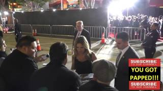 Kelly Preston arriving to American Crime Story   The People V  O J  Simpson at Village Theatre in We