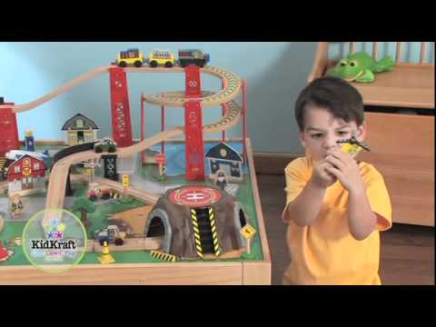KidKraft® Airport Express Train Set & Table - YouTube