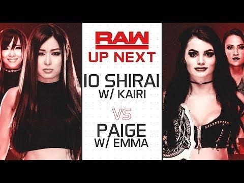 WWE 2K19 Universe Mode  - RAW - Io Shirai W/ Kairi Sane V Paige W/ Emma