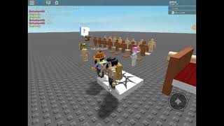 Playing a weird roblox game