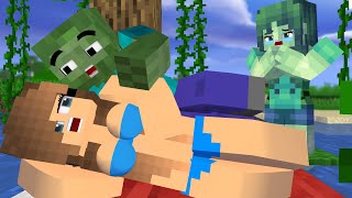 Best love story Minecraft animation Life of Zombie Boy & Zombie Girl |Fail love| # 1