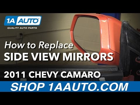 How to Replace Side View Mirrors 10-13 Chevy Camaro