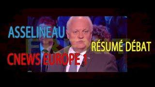 Asselineau - résumé débat Cnews Europe1