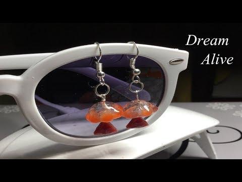 Resin Art Jewelry 레진 아트 액세서리 - 꽃우산 귀걸이(Flowery Umbrella Earring)