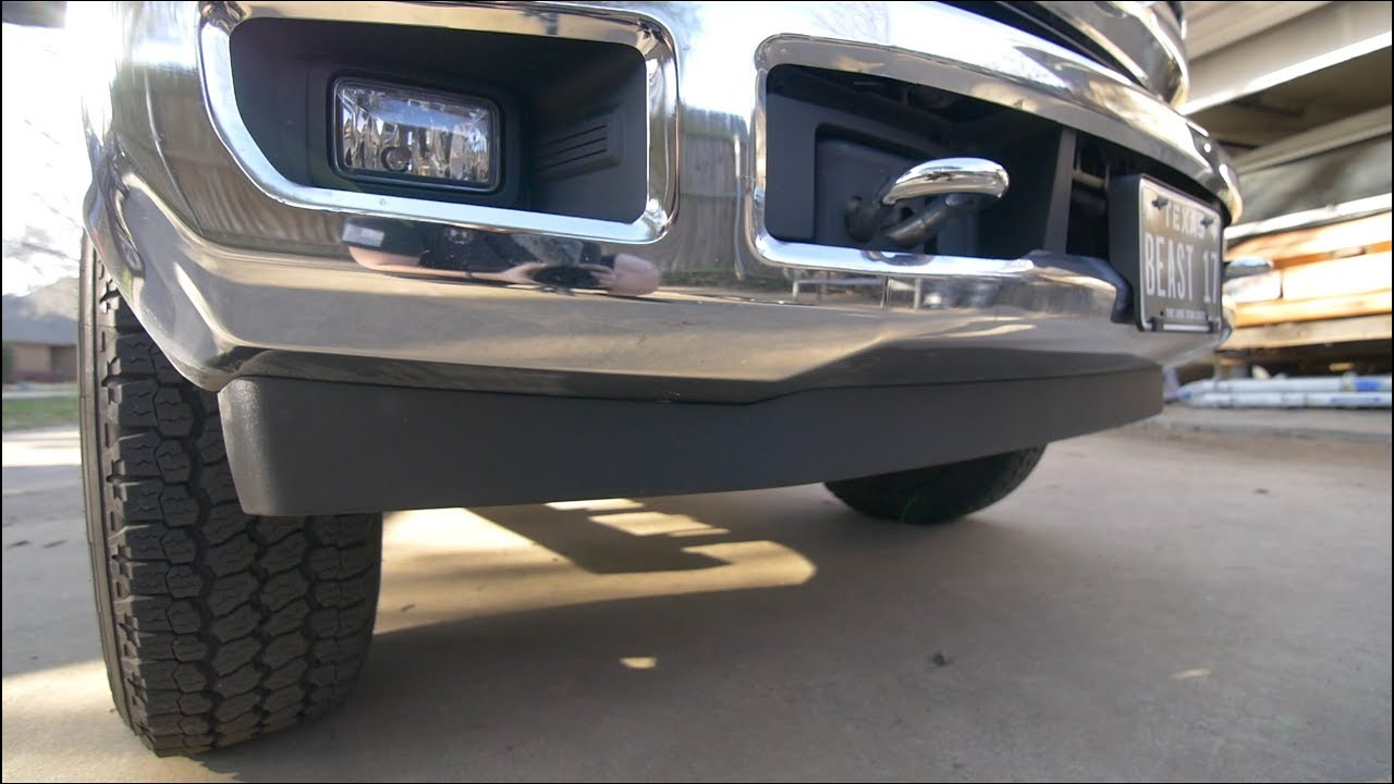 Easy Way To Make Your F250 Look Taller 2wd Valance Install Youtube