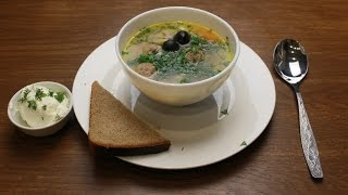 Суп с фрикадельками/Soup with meatballs