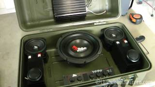 Old School Boombox - Car Audio Gear - Rockford Fosgate Audiophile Speakers 1080p