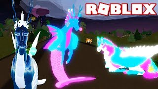 ROBLOX HORSE WORLD AQUA Horse COPYCAT - Neon vs Metallic