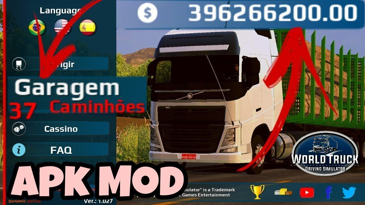 World Truck Driving Simulator 1027 Mod Apk Obb Youtube