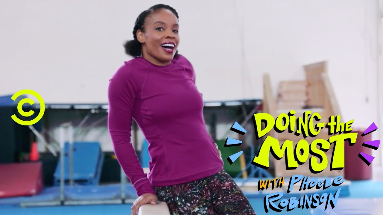 Amber Ruffin and Phoebe Robinson Do Gymnastics - Doing the Most with Phoebe Robinson