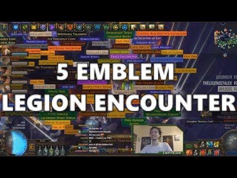 [PoE] Stream Highlights #281 - 5 Emblem Legion Encounter