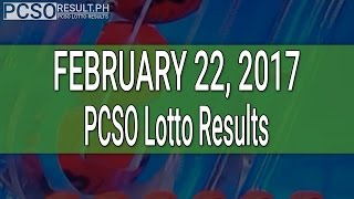 PCSO Lotto Results February 22, 2017 (6/55, 6/45, 4D, Swertres & EZ2)