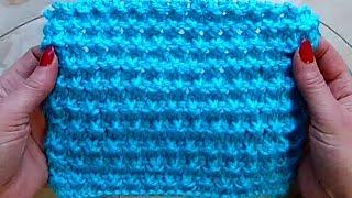 Плотный рельефный узор Вязание спицами Видеоурок 256
