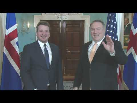 Secretary Pompeo meets with Icelandic Foreign Minister Gudlaugur Thor Thordarson