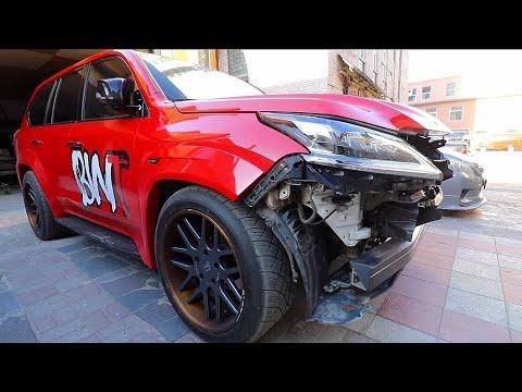 Неожиданное завершение тест драйва. Lexus lx 570 разбит!