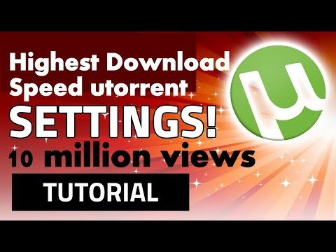 How To Speed Up Utorrent 3.5.3/3.5.4 [best Settings] 2018 Latest!
