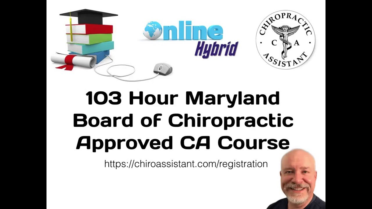 Online Maryland Chiropractic Assistant Course - YouTube