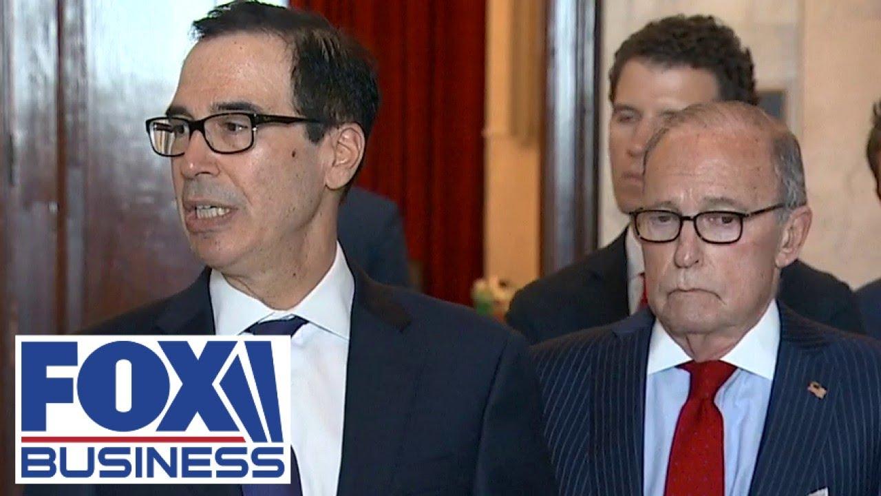 Mnuchin speaks on roughly $850 billion economic stimulus package