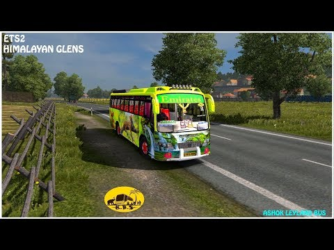 ETS 2 Ashok Leyland Emirates bus riding on Indian Himalaya g