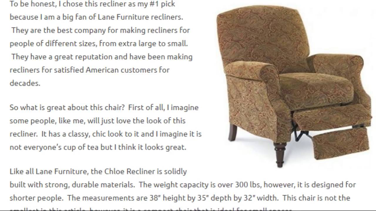 Best Small Recliners best small recliners for short people - youtube