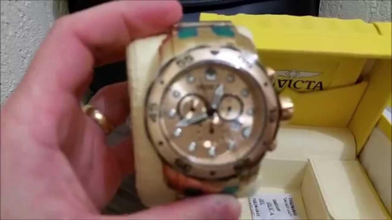 c3b3d00a61a Relógio Invicta 80070 (0074) Pro Diver Scuba B. Ouro 100% Original - YouTube